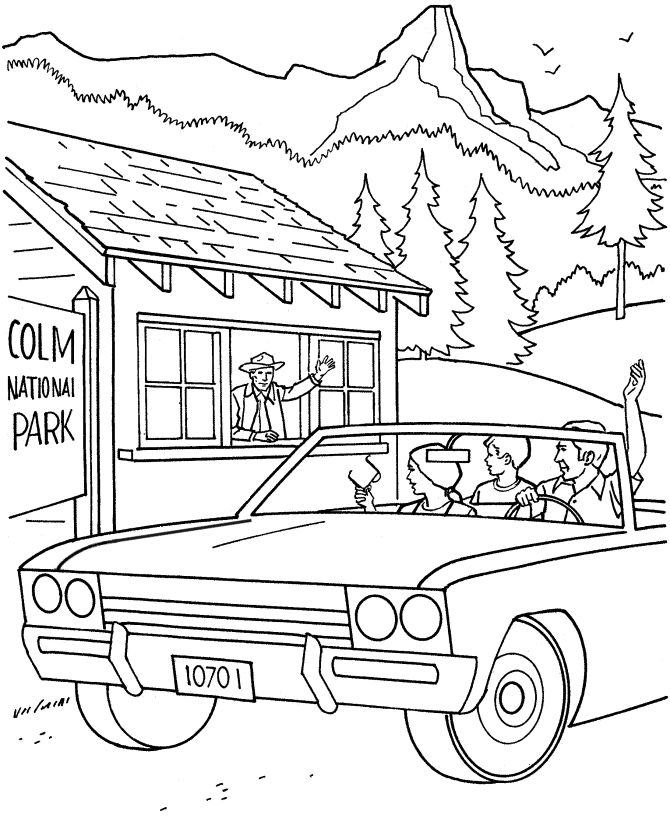 Yellowstone National Park Coloring Pages