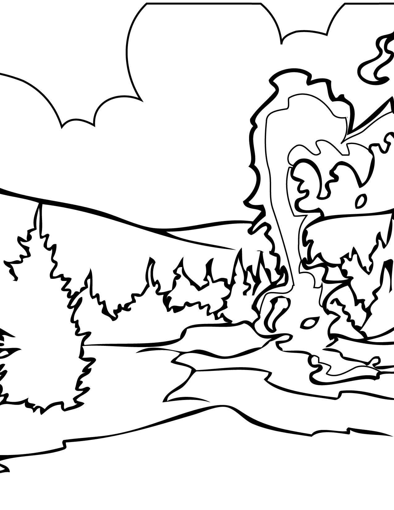 1275x1650 Yellowstone Coloring Page