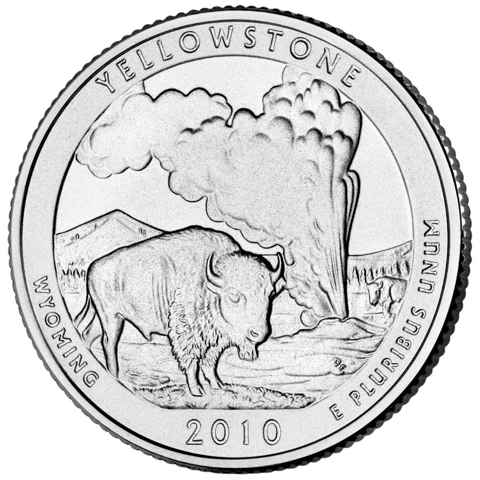 954x954 Yellowstone National Park Quarter U S Mint