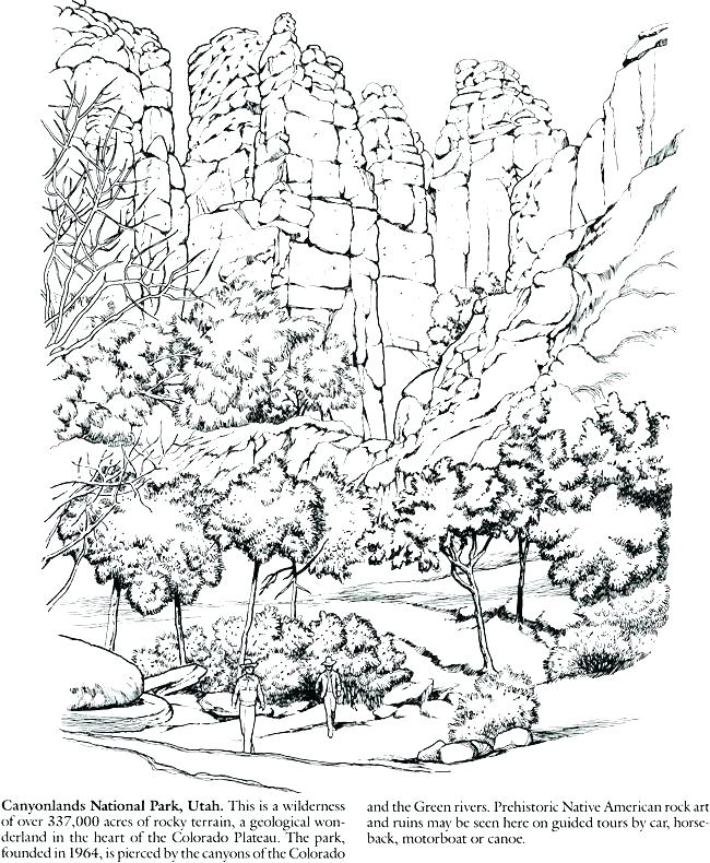 650x790 Yellowstone National Park Coloring Pages