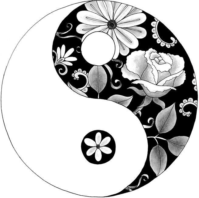 655x654 Drawn Circle Yin Yang Many Interesting Cliparts