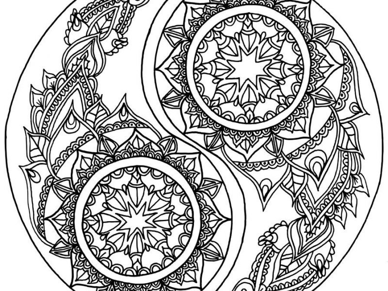 Yin And Yang Coloring Pages At Getdrawings Com Free For