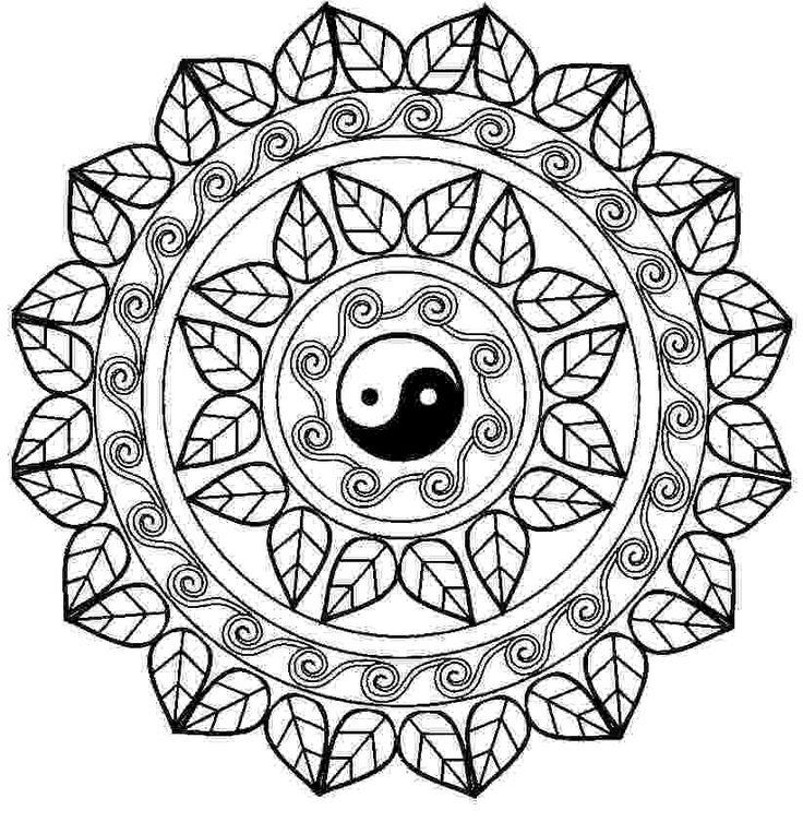 736x753 Adult Coloring Pages Mandala Yin Yang Free