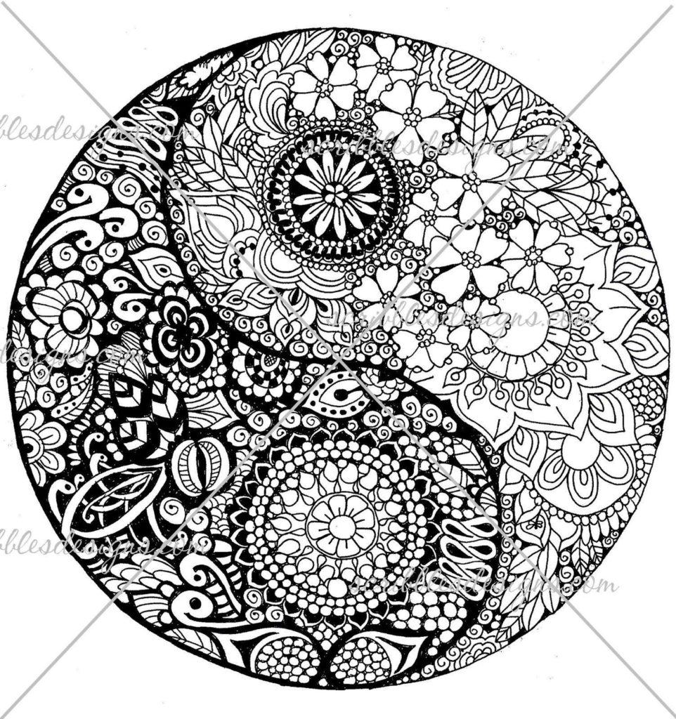 962x1024 Yin Yang Coloring Pages Sheet Get Bubbles