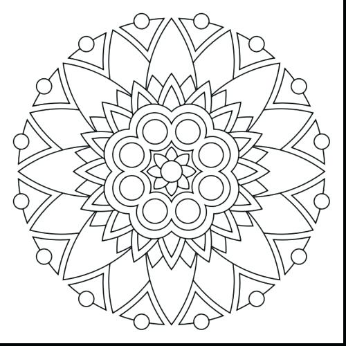 500x500 Yin Yang Colouring Pages