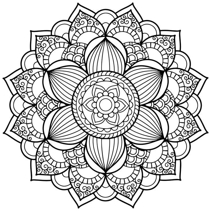 736x736 Coloring Page Mandala, Mandala Coloring Pages