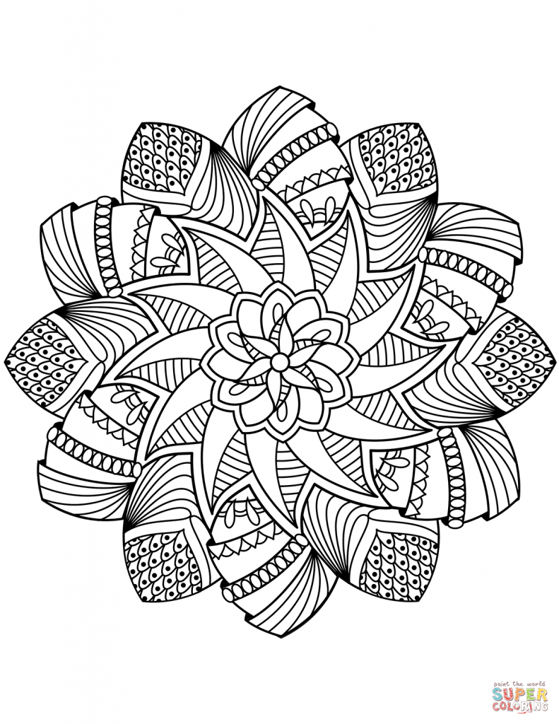 791x1024 Mandala Coloring Pages Art Free For Adults Easy Is Fun High