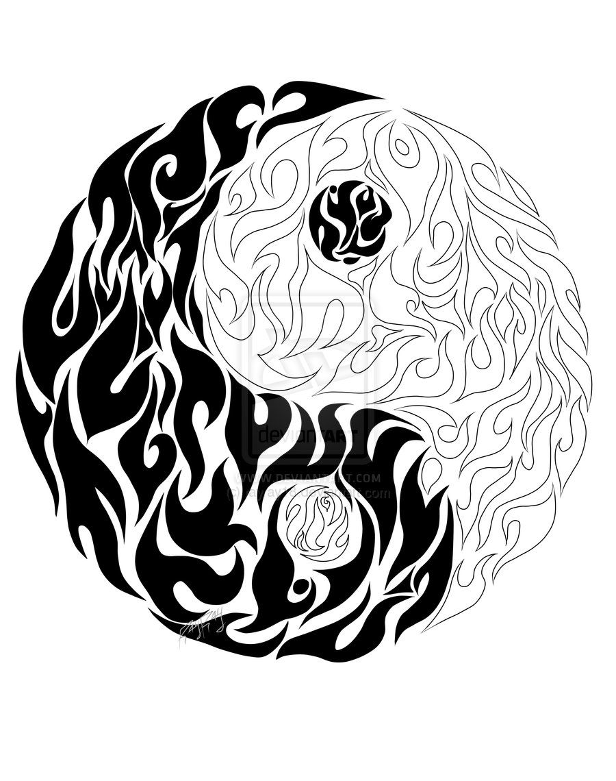 900x1140 Coloring Pages Yin Yang