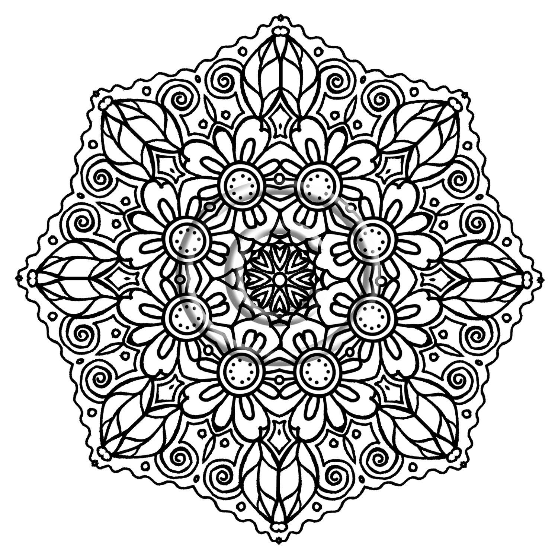 Yin Yang Mandala Coloring Pages At Getdrawings Com Free