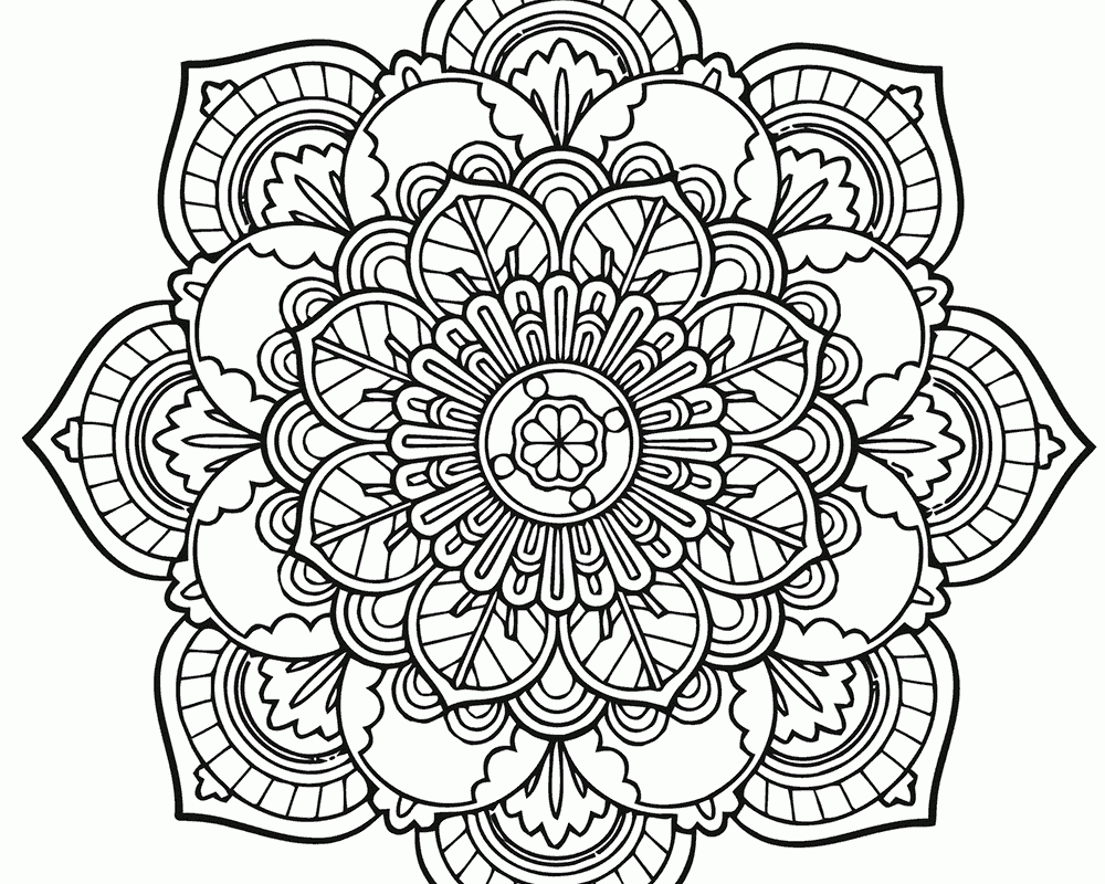 1000x800 Awesome Intricate Mandala Coloring Pages Design Free Coloring Pages