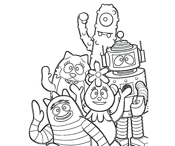600x500 Yo Say Goodbye Coloring Page Coloring Sun Yo Say Goodbye Coloring