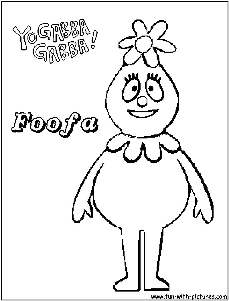 Yo Gabba Gabba Coloring Pages At Getdrawings Com Free For Personal