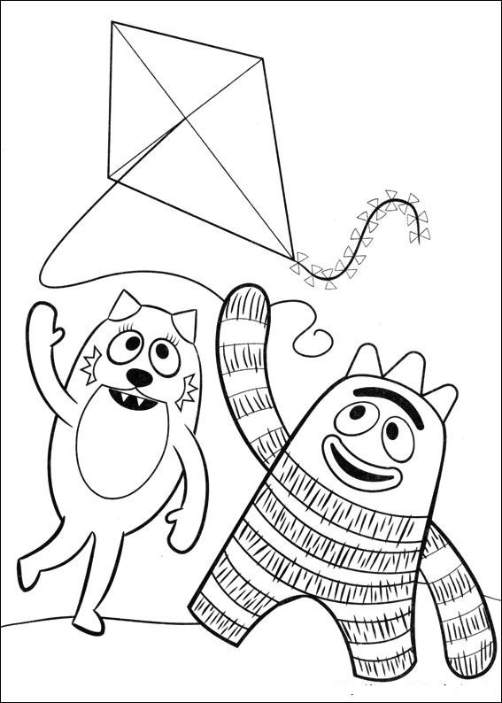 Yo Gabba Gabba Coloring Pages Free Printable