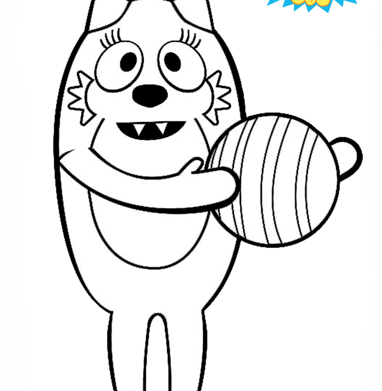 The best free Gabba coloring page images. Download from 104 ...