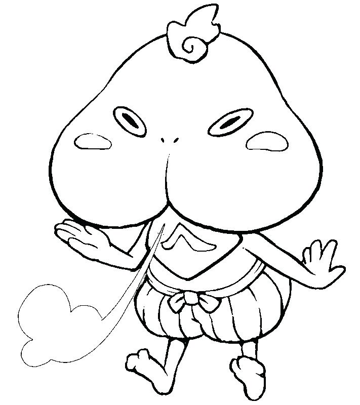 711x800 Watch Coloring Page Yo Kai Watch Coloring Pages Printable