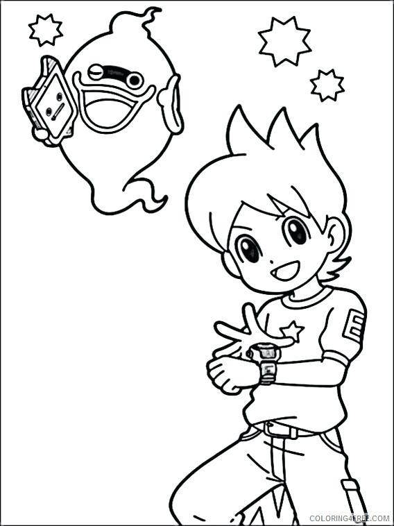 568x758 Watch Coloring Page Yo Watch Coloring Pages Printable Yo Kai Watch