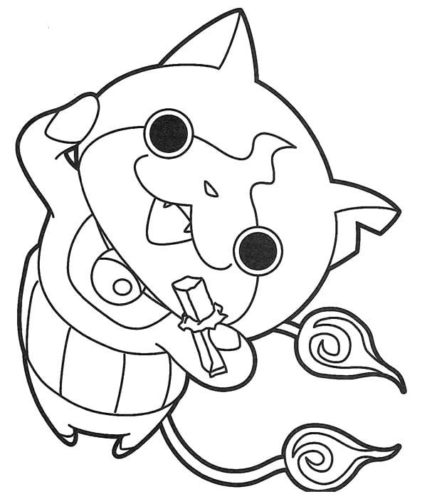 600x701 Yo Kai Watch Free Colouring Pages, Yo Kai Coloring Pages