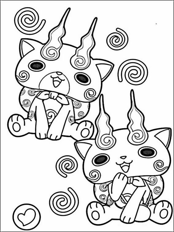 Yo Kai Coloring Pages At Getdrawings Com Free For Personal