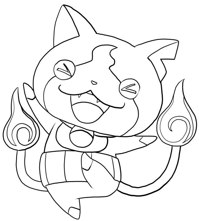 640x709 Jibanyan From Yo Kai Watch Coloring Pages