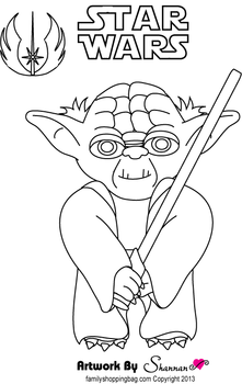221x350 Yoda, Star Wars, Coloring Pages