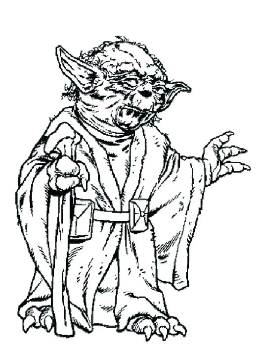 526x727 Yoda Coloring Page Coloring Pages Angry Birds Star Wars Yoda