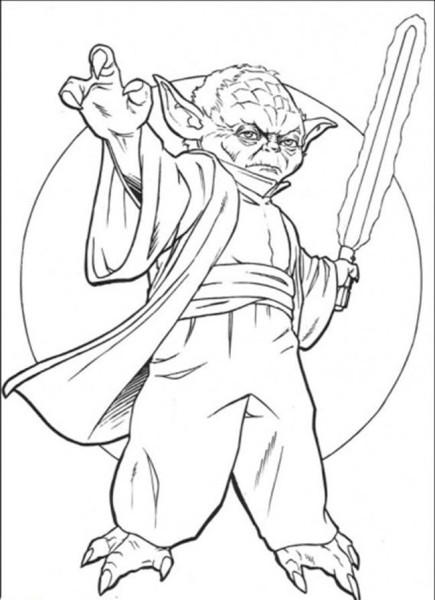 435x600 Yoda Star Wars Coloring Pages Free Enjoy Superheroes