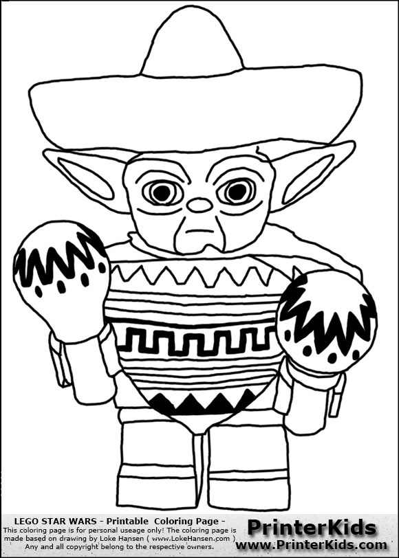 580x812 Lego Star Wars Yoda Coloring Pages