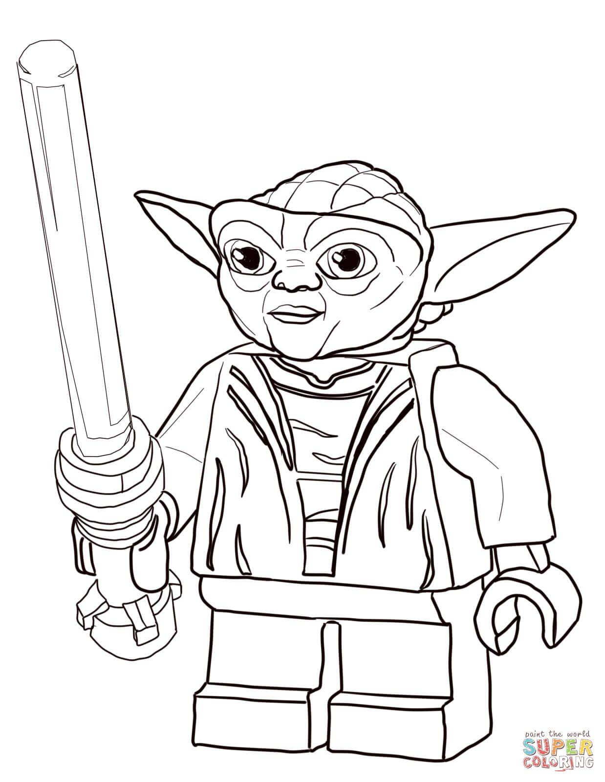 1238x1600 Lego Star Wars Master Yoda Coloring Page Free Printable Colouring
