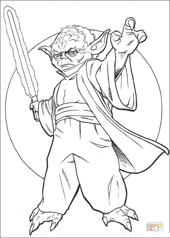 567x794 Plo Koon Coloring Pages Master Yoda Coloring Page Free Printable