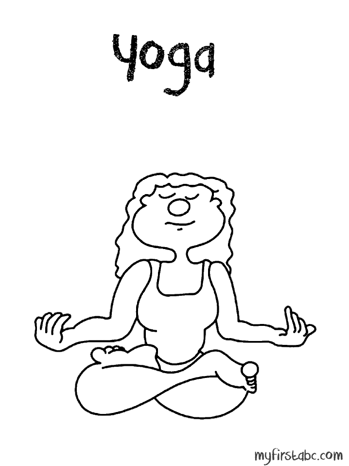 718x958 Yoga Coloring Page