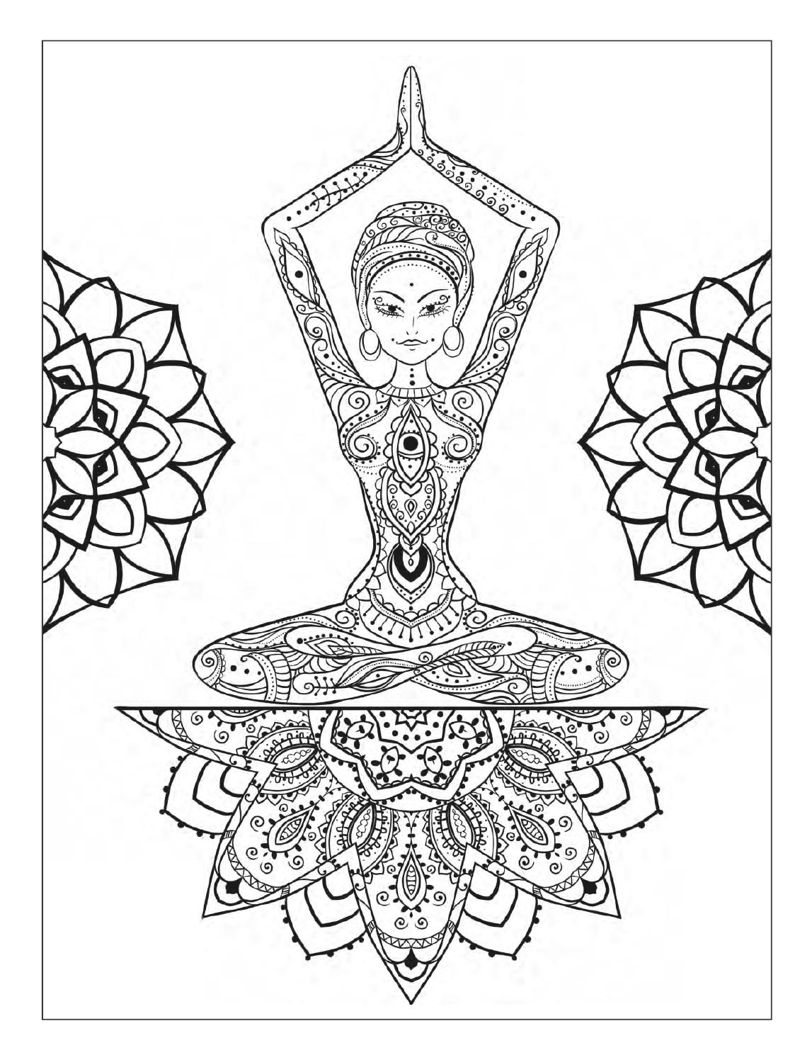1147x1496 Yoga Meditation Coloring Book For Adults With Yoga Poses