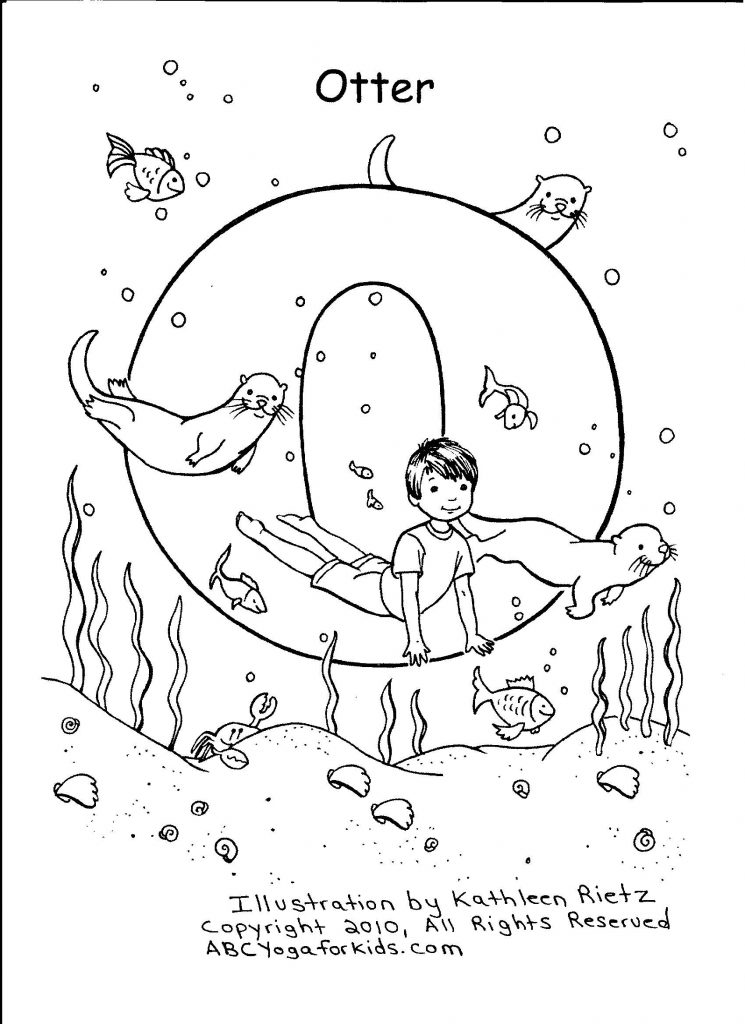 745x1024 Abc Yoga Coloring Pages