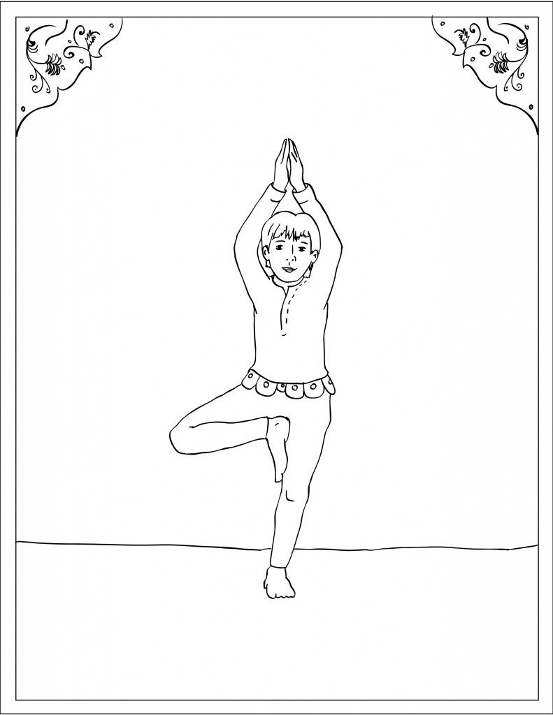 791x1024 Storytime For Kids Asana Coloring Page Tree Pose