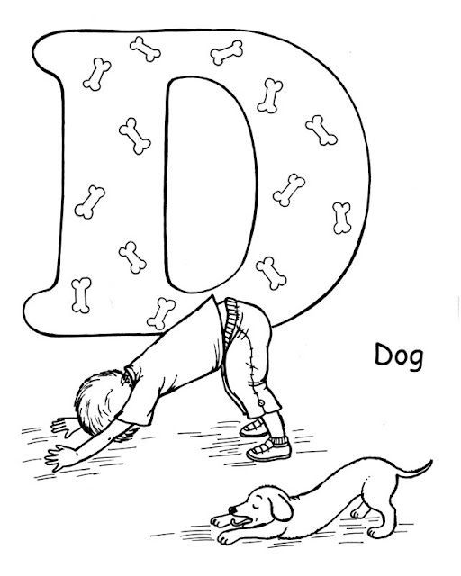 512x640 The Dog Pose Is Fun To Do And Color As Well! Fun Kids Activities