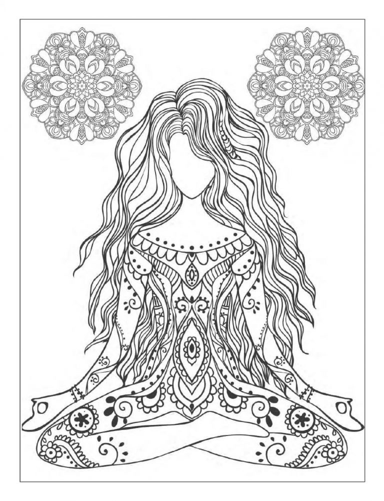 768x1002 Yoga Coloring Pages To Print New Storytime For Kids Asana Page