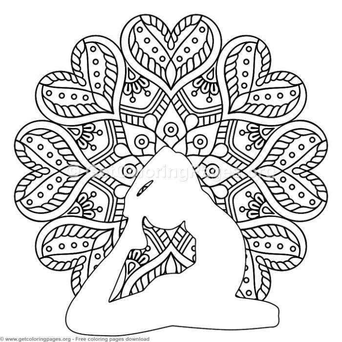 700x700 Yoga Pose Mandala Coloring Pages