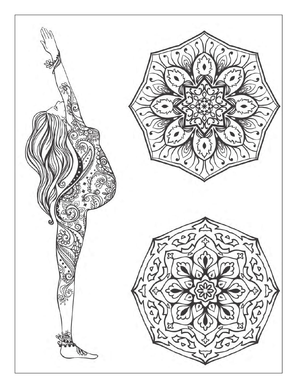 1147x1496 Awesome Yoga And Meditation Coloring Book For Adults With Yoga