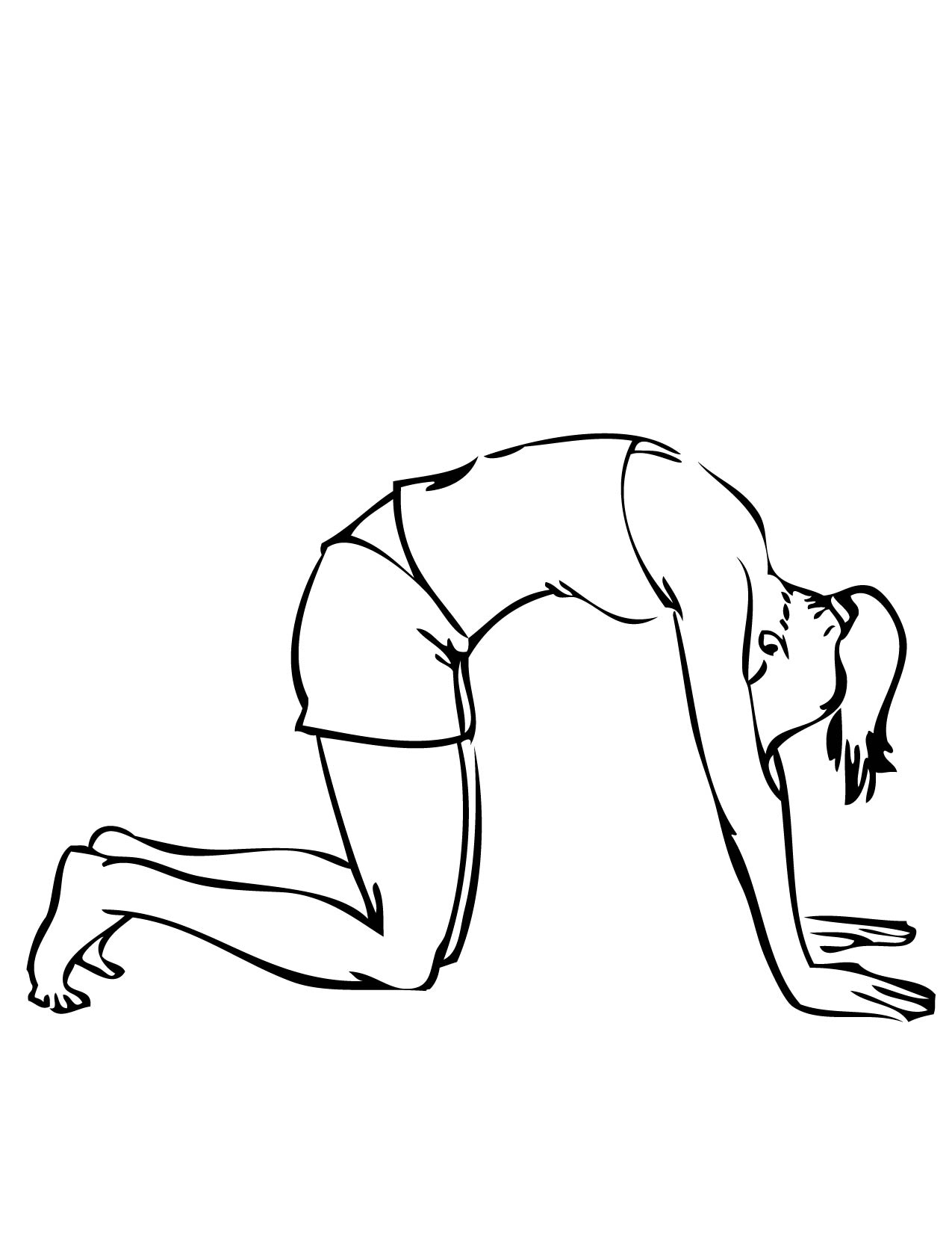 1275x1650 Cat Pose Coloring Page