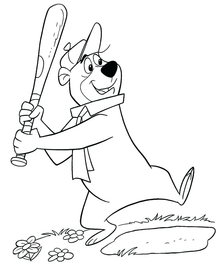 728x907 Yogi Bear Coloring Pages Yogi Bear Coloring Pages Yogi Bear