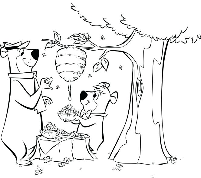 664x588 Yogi Bear Coloring Pages Yogi Bear Printable Yogi Bear Colouring