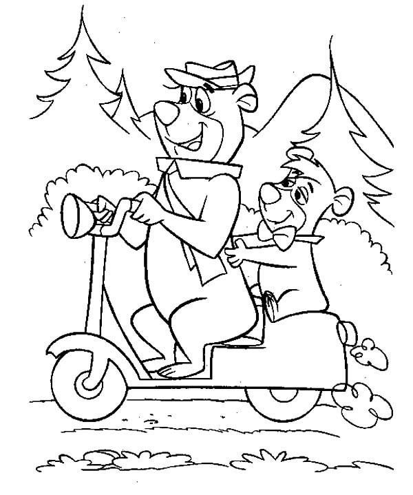 Yogi Bear Coloring Pages at GetDrawings com | Free for