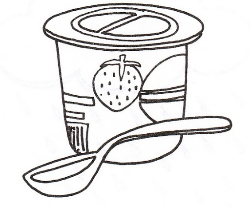 512x426 Yogurt Clipart Coloring Pencil And In Color Yogurt Clipart
