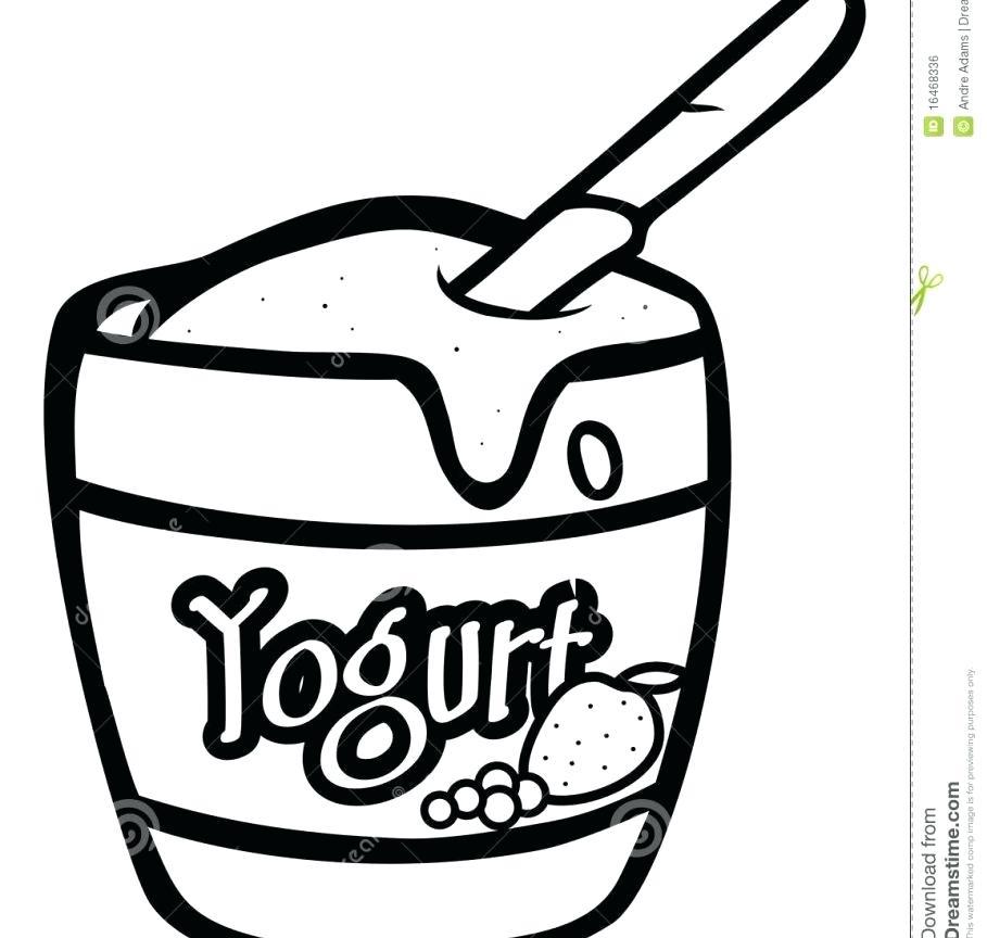 909x864 Yogurt Coloring Page Coloring Page Yogurt Free Printable Kids