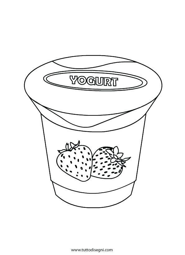 595x822 Yogurt Coloring Page Muffin Coloring Page Frozen Yogurt Coloring