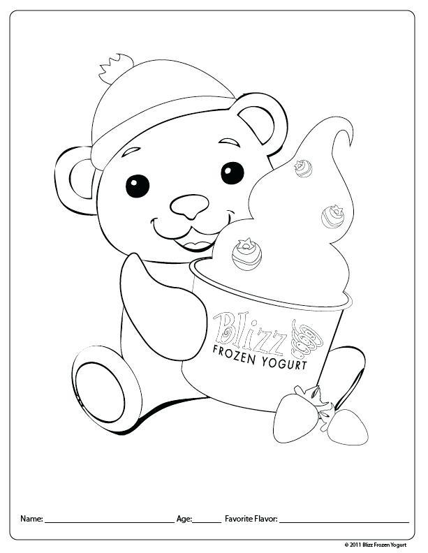 613x792 Yogurt Coloring Page