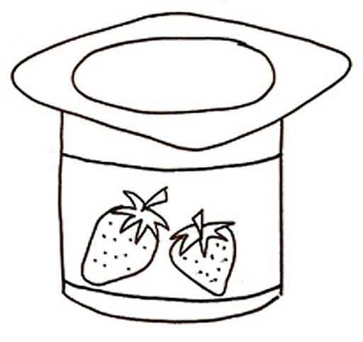 512x483 Yogurt Coloring Pages