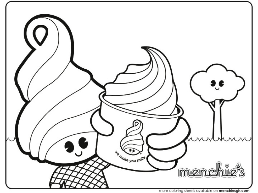 1024x768 Menchies Coloring Pages Elegant Ideas Yogurt Page