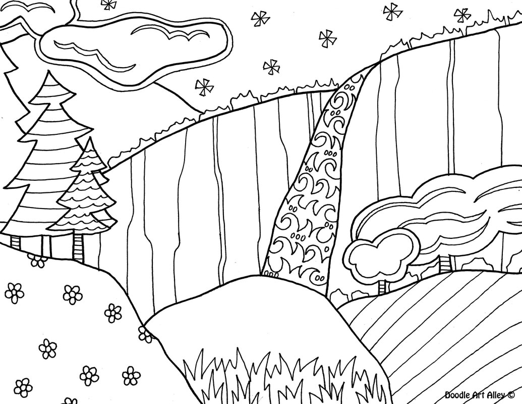 1035x800 National Parks Coloring Pages