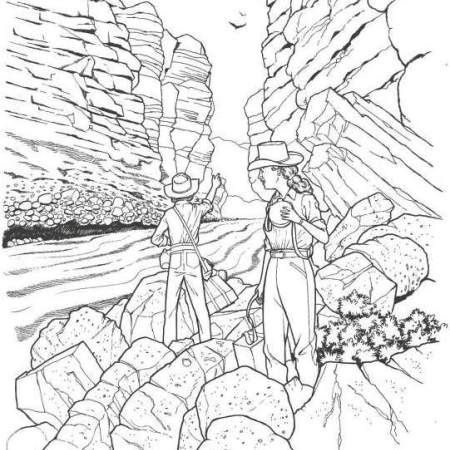 450x450 Yosemite Rocks Colouring Pages National Parks Coloring Pages