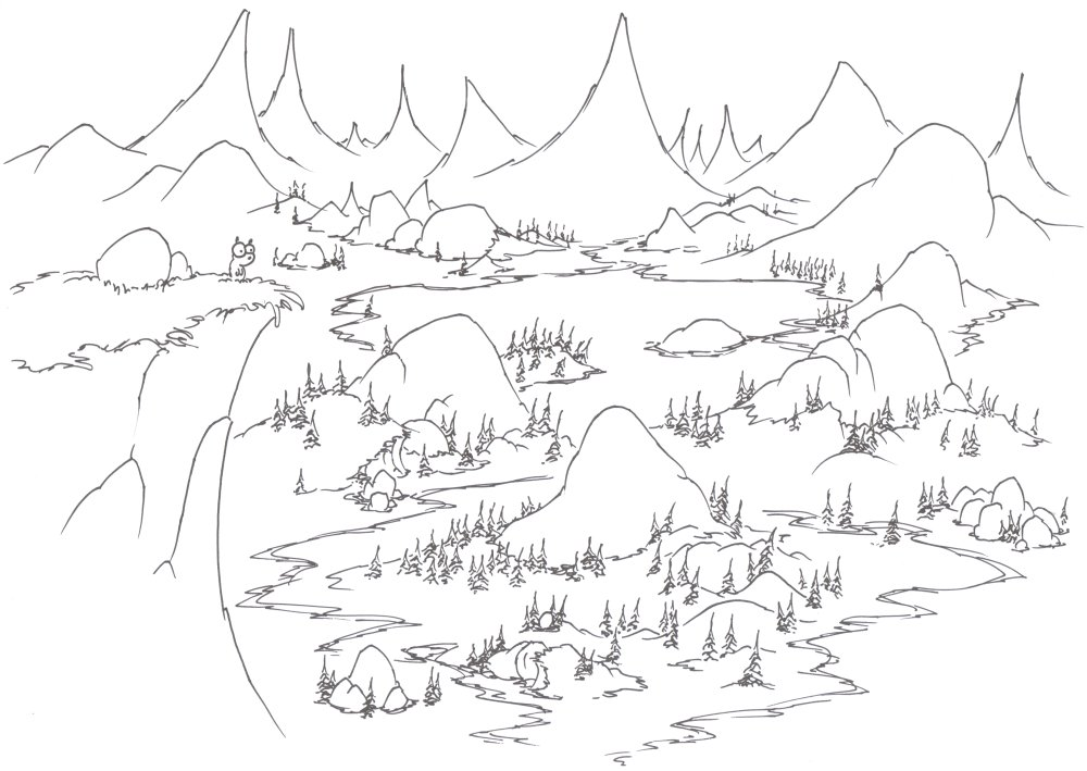 1000x709 Coloring Pages A Yellow Bellied Marmot In Yosemite